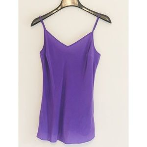 J. Crew Silk Cami in Purple